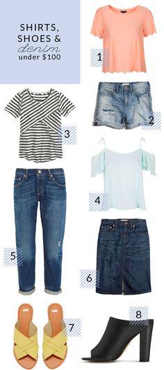Poor Little It Girl - Shirts, shoes and denim under $100 - via @poorlilitgirl