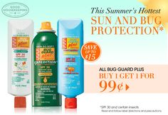 Summer skin and bug protection. Keep your skin soft and protected this summer.