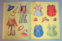 Uncut paper doll book with dolls on the cover. It is Dolls tBirno Dress Bros. B.B. Ltd. (Birn Bros.) Printed in England. No. 512. Vividly colored outfits, hats and accessories with instructions for cutting and application. | eBay!