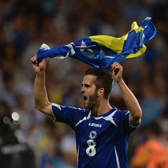Bosnia and Herzegovina (BiH) national soccer team (Miralem Pjanic)   Bosnia-Herzegovina World Cup Soccer Team