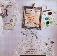 inspire lovely page by Tina Fussell
