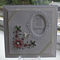 Sue wilson new dies card (paperpastimes) Card Making Inspiration, Making Ideas, Sympathy Cards, Greeting Cards, Wedding Cards Handmade, Spellbinders Cards, Friendship Cards, Die Cut Cards, Marianne Design