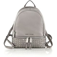 MICHAEL MICHAEL KORS Small Studded Leather Backpack ($375) ❤ liked on Polyvore featuring bags, backpacks, backpack, apparel & accessories, black, black leather knapsack, black leather backpack, strap backpack, leather backpack and michael michael kors
