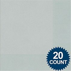 Silver 3Ply Luncheon Napkins 20 ct *** Want to know more, click on the image.