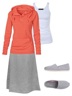 """""""Comfy School Day"""" by beautiful-and-unique ❤ liked on Polyvore featuring Tusnelda Bloch, Kosher Casual, Fat Face and TOMS"""