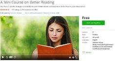 A Mini Course on Better Reading-udemy free coupon
