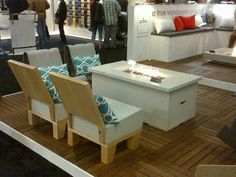 Check out this ethanol fireplace at the Interior Design Show West!