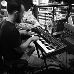 Ásgeir at work in the studio.