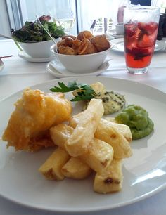 Blue eye fish and chips! Rick Stein, Fish And Chips, Wedding Anniversary, Cauliflower, Eye, Vegetables, Recipes, Food, Marriage Anniversary