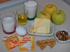 Elmalı Turta İçin Gerekli Malzemeler Pie, Cheese, Food, Bakken, Torte, Cake, Fruit Cakes, Essen, Pies