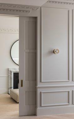 Sliding pocket doors | panelling detail