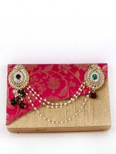 Buy Online Perfect pink clutch by Golden Ratio - 2014