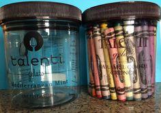 Crayon storage - talenti gelato
