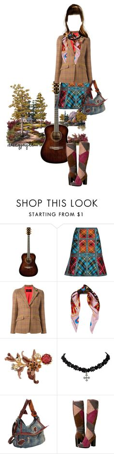 """""""fall plaid"""" by daizyjayne ❤ liked on Polyvore featuring Hervé Léger, Etro, Mary Katrantzou, Les Néréides, AmeriLeather, Frye, contestentry and invisibledolls"""
