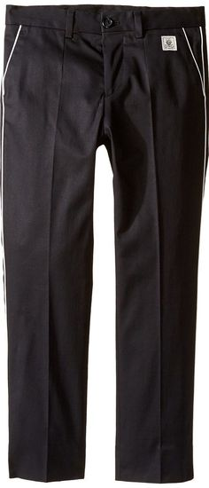 Dolce & Gabbana Kids Cotton Stretch Pants (Toddler/Little Kids) (Black) Boy's Casual Pants - Dolce & Gabbana Kids, Cotton Stretch Pants (Toddler/Little Kids), L42P16FUFGC-N0000, Apparel Bottom Casual Pants, Casual Pants, Bottom, Apparel, Clothes Clothing, Gift, - Street Fashion And Style Ideas