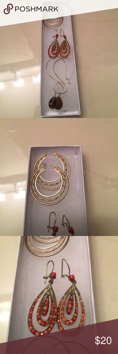 Earring Bundle 3 sets of Earrings all in flawless condition! Purchased at Macy's. Macy's Jewelry Earrings