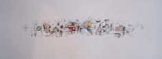 Título:  Autor: Alvaro Galindo Vácha Dimensiones: 27,5 x 76 cm  Técnica: Lápiz sobre papel   Año: 2003   Firmado: Frente y Revés