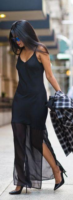 Daily New Fashion : Silk Slip Dress by Walk in Wonderland