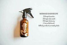 Mermaid Hair Recipe: lavender, rosemary, Cedarwood, witch hazel
