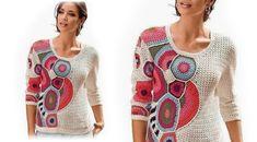 Crochet Patterns Jumper Fashion for cold weather from the Internet. Crochet Jacket, Crochet Cardigan, Freeform Crochet, Irish Crochet, Moda Crochet, Knit Crochet, Crochet Designs, Crochet Patterns, Crochet Woman