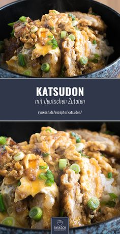 Katsudon (Donburi) with German ingredients RECIPE. Japanese dish Katsudon (Donburi) with German ingredients RECIPE. Best Pancake Recipe Fluffy, Pancake Recipe With Yogurt, Easy Healthy Recipes, Asian Recipes, Easy Meals, Best Crepes, Clean Eating Pancakes, Pancake Healthy, Dairy Free Pancakes