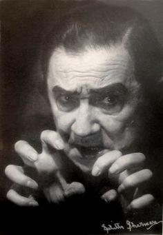 Lugosi in Dracula make up-early 1950,s