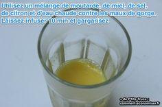 Il existe une astuce de grand-mère redoutable quand on a la gorge irritée. Contre les maux de gorge, un remède à la moutarde peut être très efficace !  Découvrez l'astuce ici : http://www.comment-economiser.fr/remede-efficace-maux-gorge.html?utm_content=buffer0d235&utm_medium=social&utm_source=pinterest.com&utm_campaign=buffer