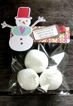 Cute Snowman poop idea