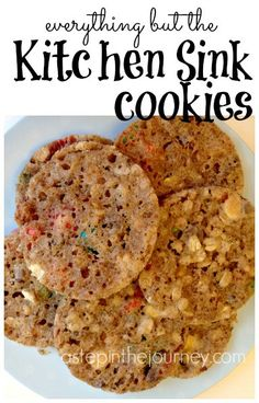Delicious cookies where the ingredients include everything but the kitchen sink!