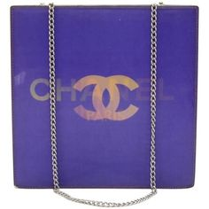 Preowned Chanel Holographic Purple Vinyl Chain Shoulder Bag ($440) ❤ liked on Polyvore featuring bags, handbags, shoulder bags, purple, structured shoulder bags, purple purse, polka dot purse, shoulder strap handbags, chain strap shoulder bag and chanel purse