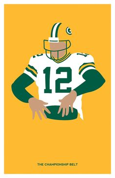 Green Bay Packers Aaron Rodgers by headfuzzbygrimboid on Etsy