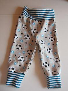 Baby Bloomers pants with reversible bib set football by FalknerArt
