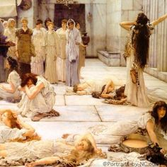 Lawrence Alma Tadema, Women of Amphissa 1887 Clark Art Institute Renaissance Paintings, Renaissance Art, Classic Paintings, Beautiful Paintings, 7 Arts, Lawrence Alma Tadema, Clark Art, Greek Art, Classical Art