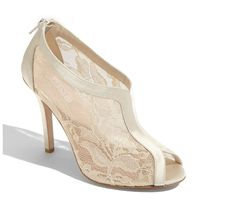 Wedding shoes - lace bootie