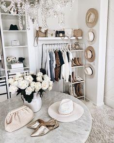 Closet decor Home Decor Room Ideas Bedroom, Bedroom Decor, Glam Room, Aesthetic Room Decor, Dream Closets, Closet Designs, Closet Bedroom, Closet Office, Beauty Room