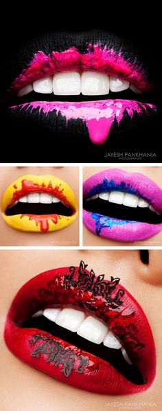 'Unique' alright! These are beautiful yet edgy lips that are wearable for everyd...