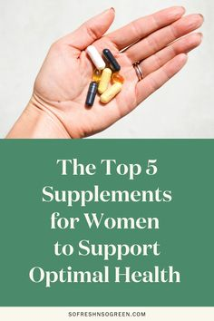 The top five hormone balancing supplements for women to support optimal health. In this blog post my doctor is sharing the 5 supplements she recommends for optimal health + recommended brands and what to look for when buying! #health #wellness Healthy Lifestyle Tips, Healthy Habits, Naturopathic Physician, Supplements For Women, Vitamins For Women, Clean Diet, Adrenal Fatigue, Hormone Balancing
