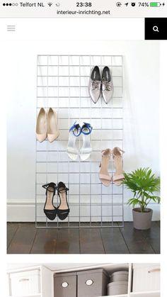 DIY grid shoe storage display   Pinterest   Wohnkultur ideen ...