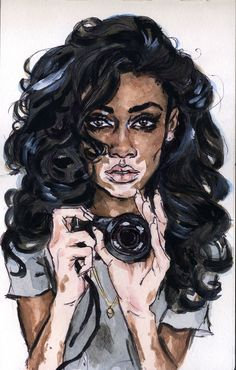Winnie Harlow , She gained prominence as a contestant on the twenty-first cycle of the US television series America's Next Top Model, and is known for having a prominent form of the skin condition vitiligo Black Girl Art, Black Women Art, Black Girls Rock, Art Girl, Arte Dope, Arte Black, Frida Art, Natural Hair Art, Wow Art