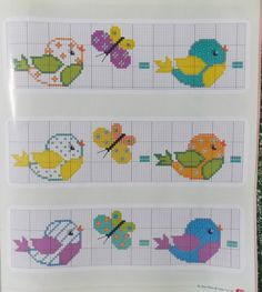 40 ideas for knitting charts birds alpha patterns Cross Stitch Baby, Cross Stitch Embroidery, Cross Stitch Patterns, Loom Knitting Patterns, Knitting Charts, Crochet Pattern, Alpha Patterns, Craft Patterns, Tapestry Design