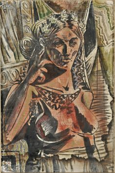 Woman Thinking Tempera on paper National Gallery Of Greece Classical Period, Classical Art, Cubist Artists, Hellenistic Period, Tate Gallery, Byzantine Art, Greek Art, Conceptual Art, Printmaking