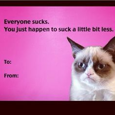 valentine card grumpy cat