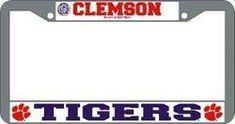 Clemson Tigers License Plate Frame Chrome