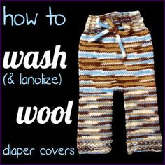 How to wash wool diaper covers