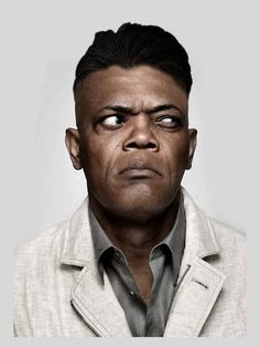 """I know he's not classically attractive, but this BAMF does something for me! [Samuel L. Jackson] Samuel L. Jackson as Detective Lawrence """"Morgan Freeman"""" Appleton – John Dies at the End by David Wong Kino Movie, Samuel Jackson, Black Actors, Face Expressions, Celebrity Portraits, Black And White Portraits, Interesting Faces, Celebs, Celebrities"""