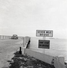 7-mile bridge ~ Florida Keys ~ 1955