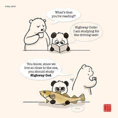 Polar Bear and his puns! Daaaaaah!