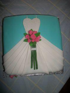 wedding dress cake - cute bridal shower cakre