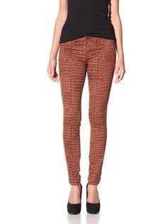 67% OFF Rich & Skinny Women's Marilyn Croc Print Jean (Rust)