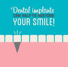A dental implant is a titanium post that is surgically positioned into the jawbone beneath the gum line that allows your dentist to mount replacement teeth or a bridge into that area. An implant doesn't come loose like a denture can. Call us today and book an appointment!